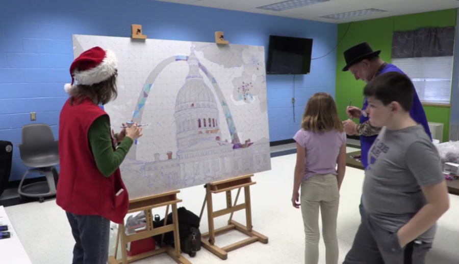 Missouri+Bicentennial+Mural+Artists+Visit+Elementary+Schools