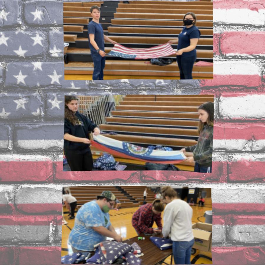 Flag Folding Frenzy at FHS