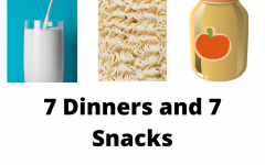 7 dinners/snacks
