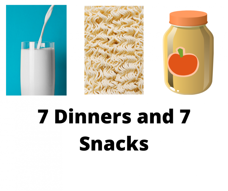 7 dinners/snacks
