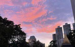 Abby enjoying the beautiful sunset in Bangkok.